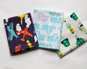 Boy's Handkerchief Set of Three/ Boy's Hankies