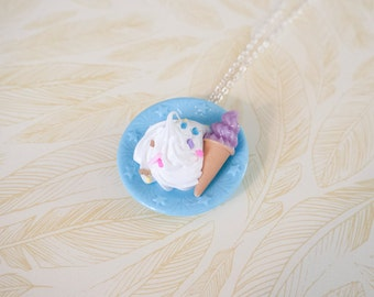 Kawaii Decoden Necklace - Ice Cream Necklace for Fairy Kei