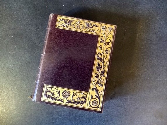 Vintage Leather Book Cover : Antique french leather cover missal book of the