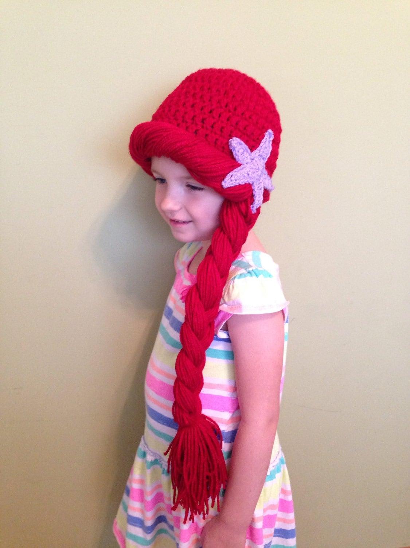Crochet ariel hat | Etsy