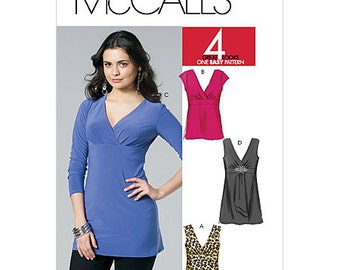 OUT of PRINT McCall's Pattern M6120 Misses' Tops and Tunics