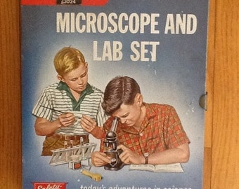 60's Science,Microscope,Lab Set,Gilbert Hall of Science,