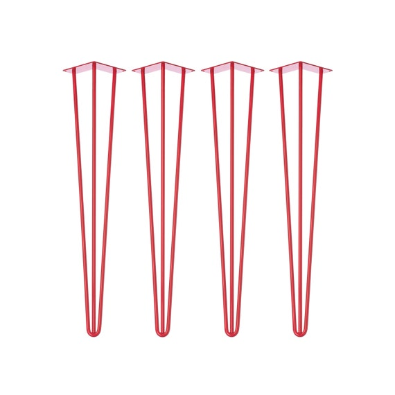 4 x RED Hairpin Legs - All Sizes
