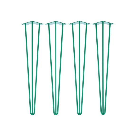 4 x GREEN Hairpin Legs - All Sizes