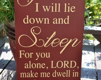 Psalm Bible Verse Wooden Sign