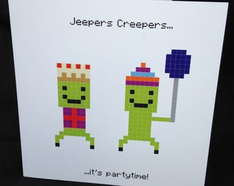 Jeepers Creepers - Minecraft Inspired Birthday Card
