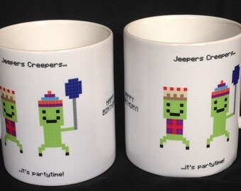 Jeepers Creepers - Minecraft inspired mug
