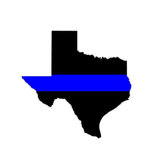 Support texas police texas thin blue line vinyl decal for Texas thin blue line shirt
