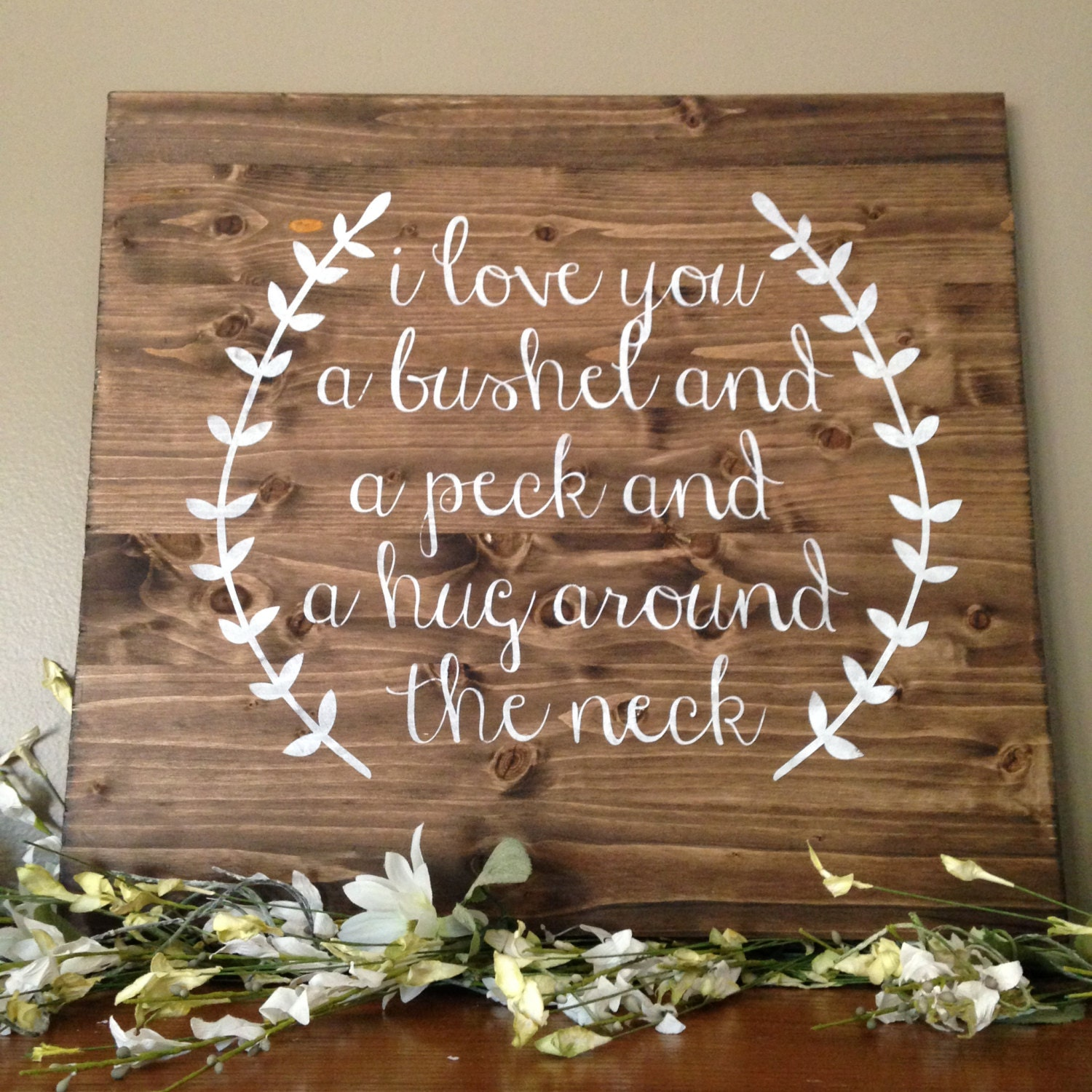 Love You a Bushel and a Peck Sign Wood von CreateDesignLive