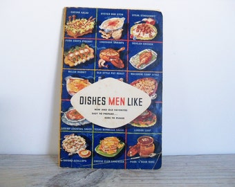 Vintage Cook Book Dishes Men Like Lea & Perrins Inc Recipes Promotional Cookbook Men's Favorite Recipes 1952