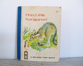 Hop Little Kangaroo Vintage Little Golden Book Golden Tiny Book Golden Press Patricia Scarry Feodor Rojankovsky 1st Edition 1965