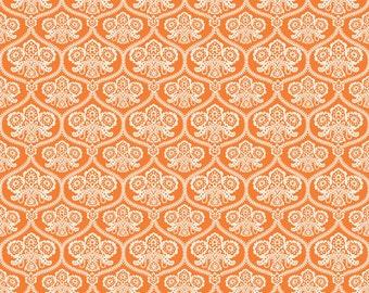 Riley Blake Haunting Damask Orange fabric
