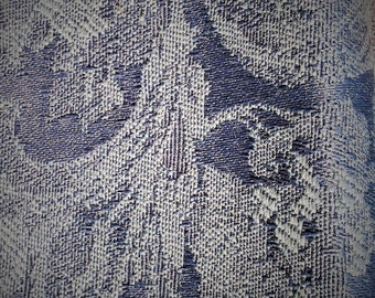 Rich Blue Brocade Fabric