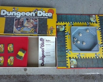 Dungeon Dice Board Game 1977