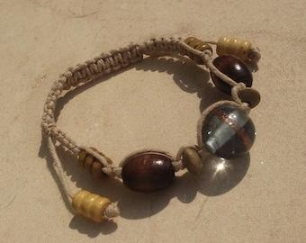 retro hemp drawstring bracelet