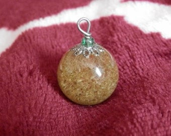 Resin Sphere Moss Pendant