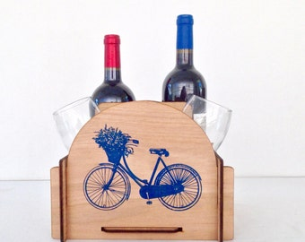 Wine Caddy - Great Housewarming Gift or Perfect for your Best Friend, Bridesmaid or Sister