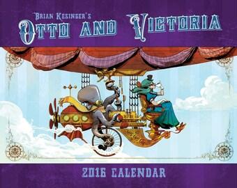 Brian Kesinger's Otto and Victoria 2016 calendar