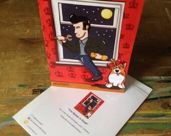 "Greetings card ""The Queen Is Dead"" - 21 x 15cm, w/envelope, in plastic wallet"