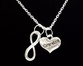Infinity Grandma Grandmother Granny Nana Forever Gift Necklace