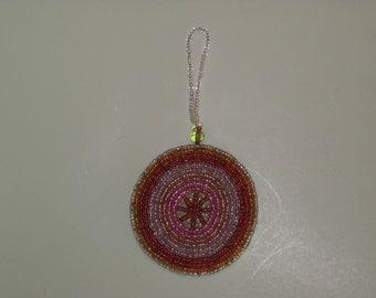Circle Beaded Holiday Ornaments (#074r, #074s)