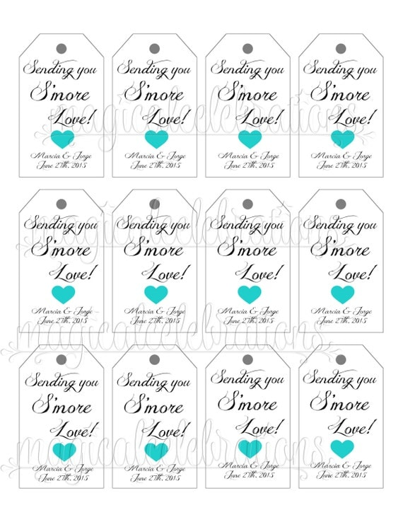 Free Printable Wedding Favor Tags Image collections - Wedding ...