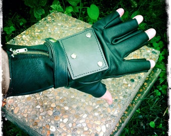 Road Warrior Gloves / Post Apocalyptic style / Handmade leather gloves / From Soft Cow Leather (PHG066)