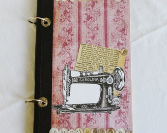 Sewing Journal, Refillable Seamstress Journal, Blank Notebook, Valentine Gift