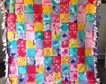 Patchwork Fleece Blanket