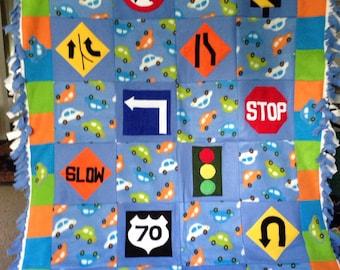 Road Signs Fleece Blanket