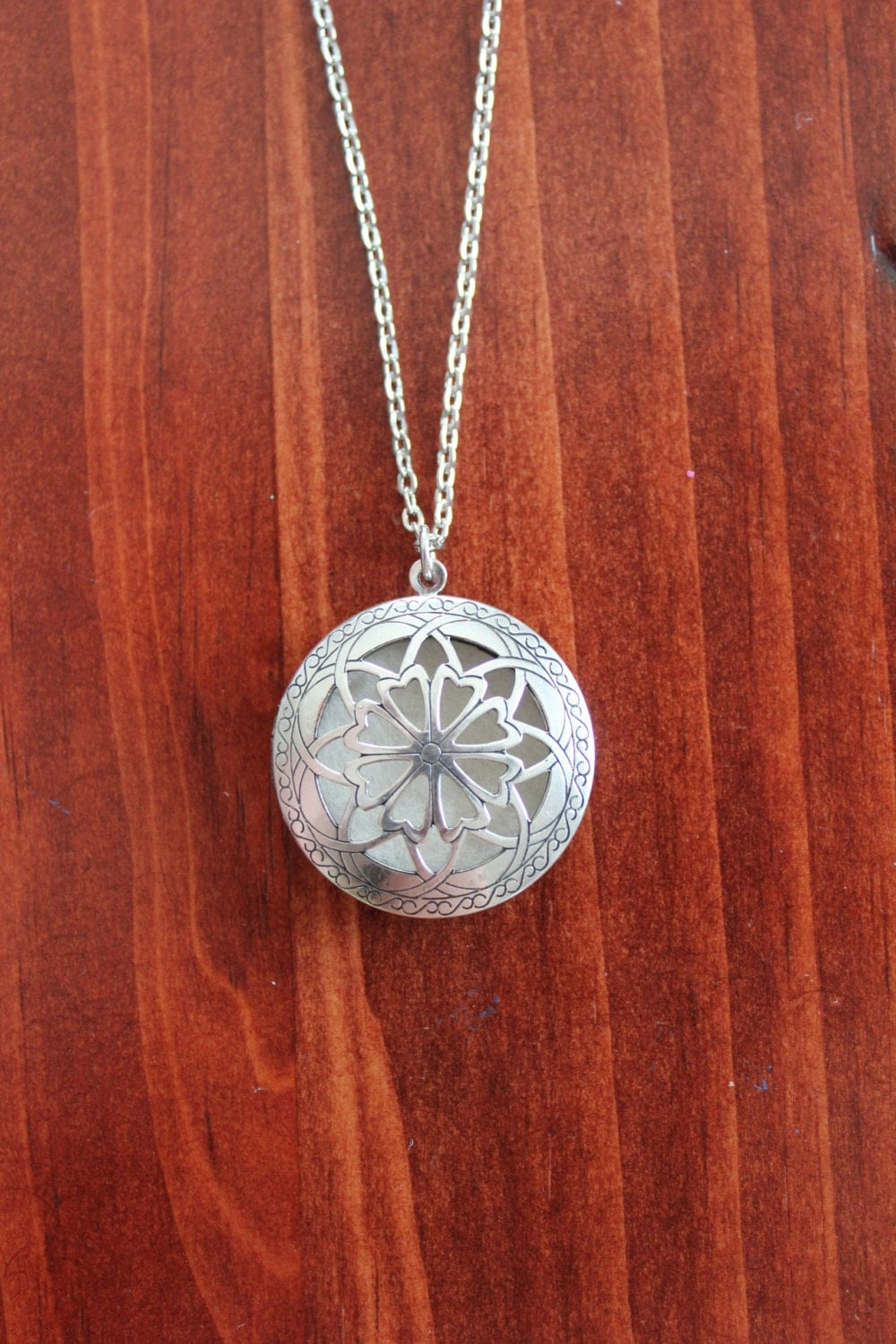Silver Celtic Essential Oil Necklace