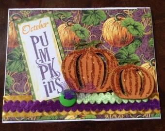 October  pumpkins card