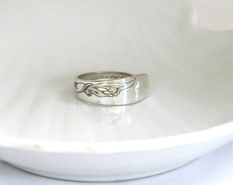 spoon ring, thumb ring,  vintage ring, cherie pattern ring, lily ring