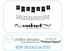 WEEKEND BANNER - Planner Stamps (Photopolymer Clear Stamps) perfect for ECLP InkWell Press weekend stamp