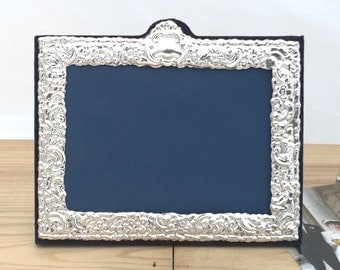 Silver Photo Frame, Silver Picture Frame Hallmarked Silver Frame, Wedding Photo, Gift Idea - No. 41