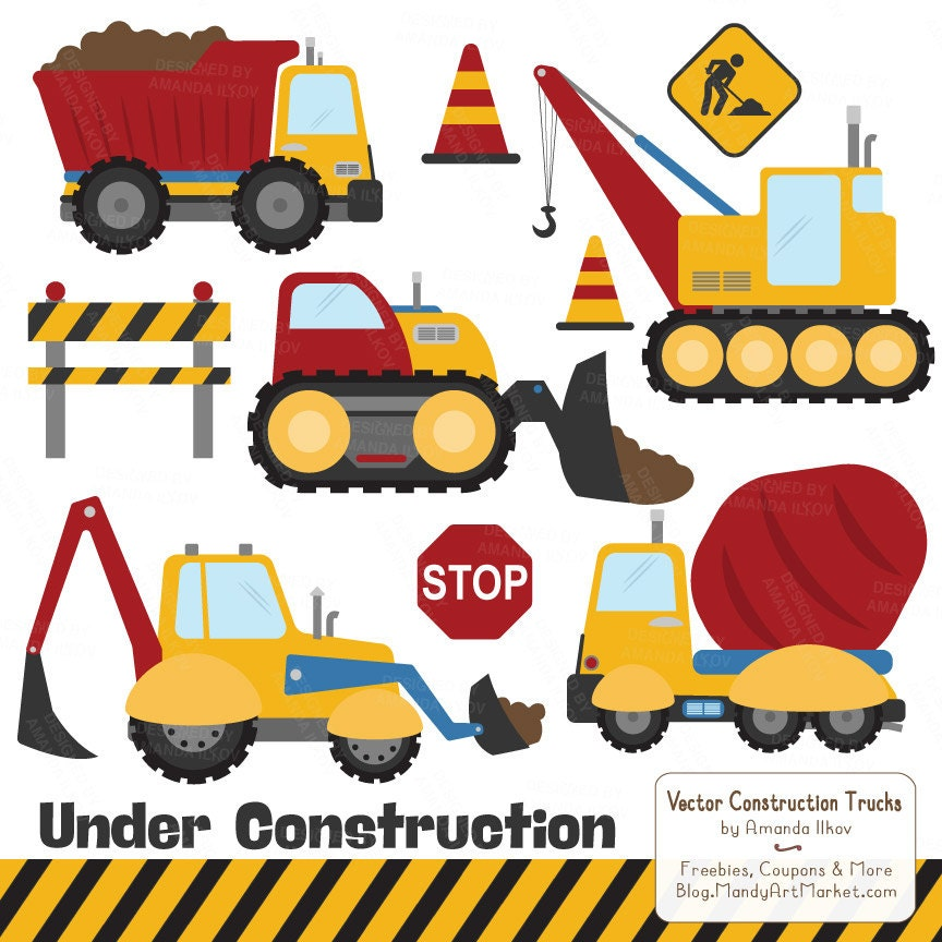 Premium Primary Construction Clipart Truck Clipart