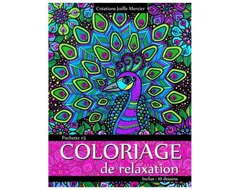 Bag #3-10 designs - relaxation coloring