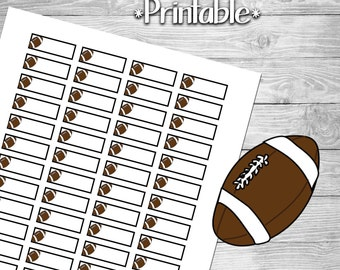 Football Reminder Planner Stickers for Planner- Print at Home- Digital File
