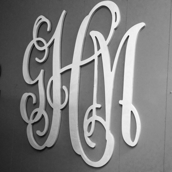 large monogram letters large wooden monogram large wall letters 30 22692