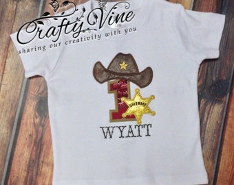 Cowboy birthday shirt or bodysuit