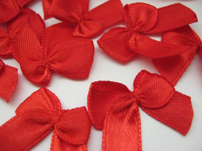 Red ribbon bows mm small christmas