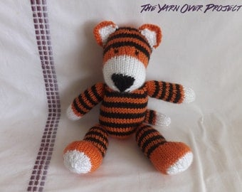 Hand-Knit Stuffed Tiger - Stuffed Tiger for Baby - Stuffed Toy for Baby - Stuffed Doll - Baby Tiger Toy