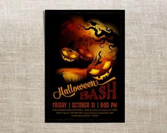 Printable Halloween Invitation - Halloween Bash Invitation
