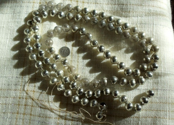 Vintage mercury glass garland inch beads silver