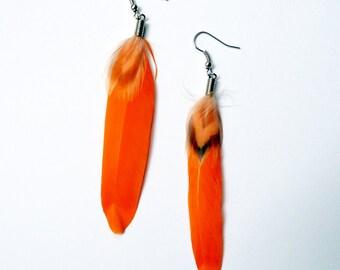 Irish goose feather, orange