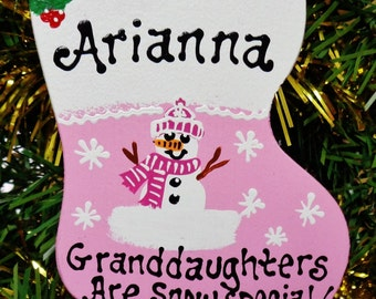 U Choose  Name-Year Personalized GRANDDAUGHTER SNOW SPECIAL Christmas Ornament