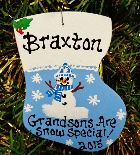 U Choose Name-year Personalized GRANDSONS ARE SNOW Special