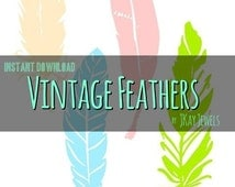 Vintage Feathers Silhouette SVG File For Die Cut Vinyl Machines and Crafts