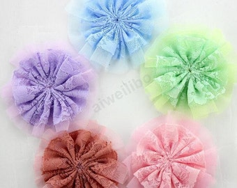 Lace Flower,You Choose Color, Fabric Flowers,DIY