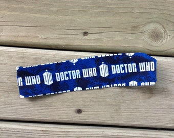 Doctor Who Cloth Headband for Teens and Adults - Ready to Ship